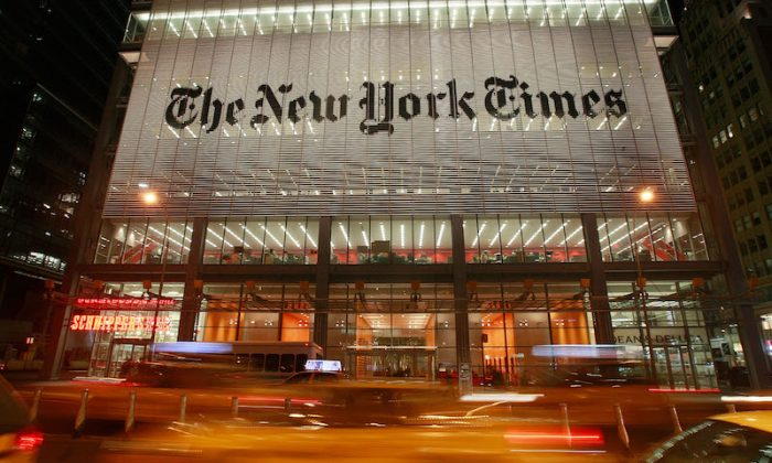 Publicația New York Times, acuzată de fake news
