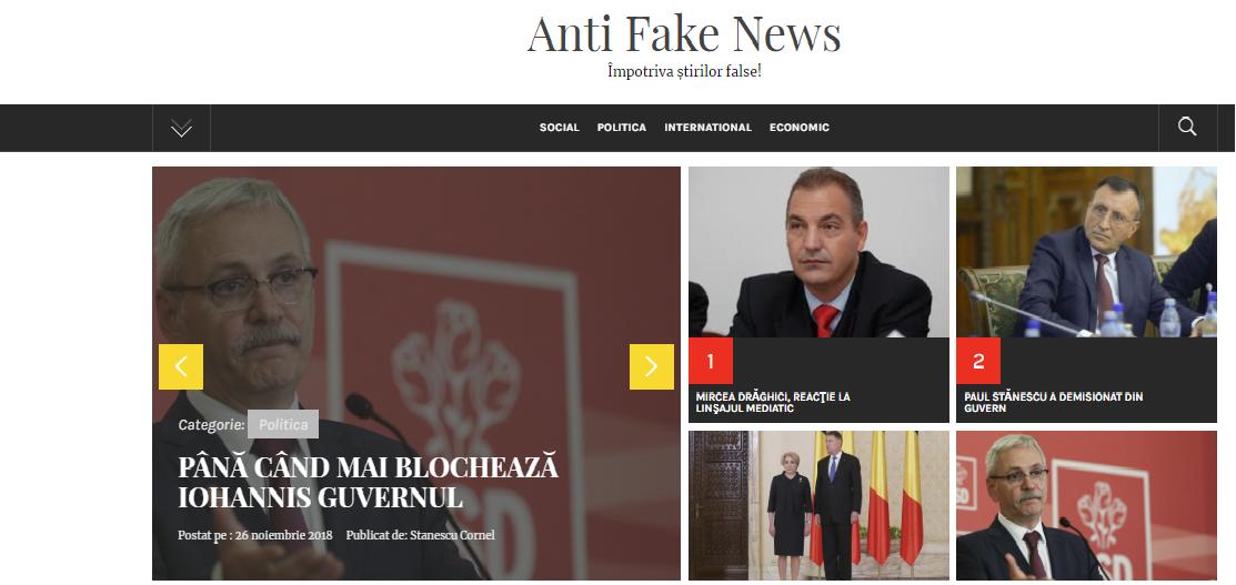 Antifakenews.ro, site-ul folosit de PSD pentru propaganda de pe Facebook