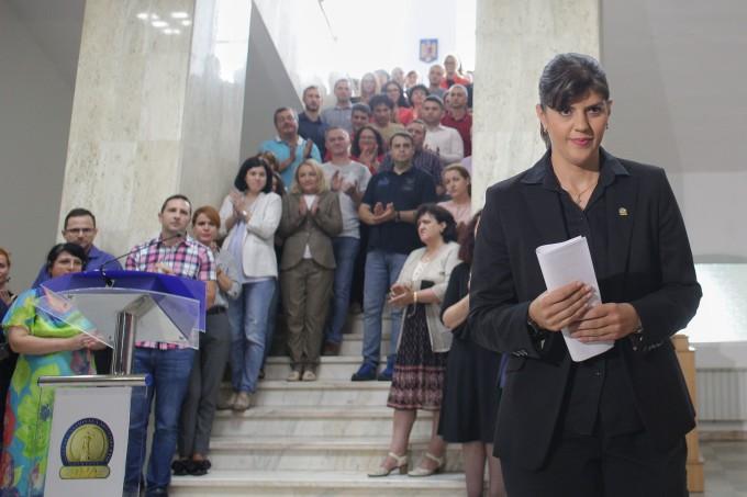 Laura Codruța Kovesi a păstrat distanța față de presă – până aseară