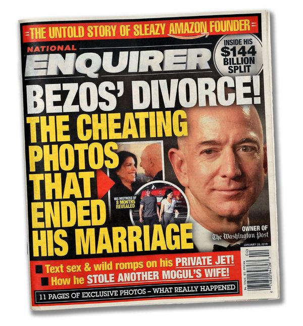 Scandalul dintre patronul Amazon si publicația Național Enquirer, care a pornit de la o relație extraconjugală