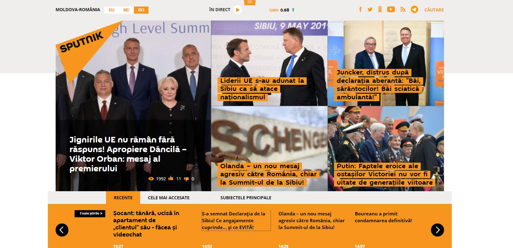 Summit-ul de la Sibiu, prin ochii site-ului oficial de propagandă rusă