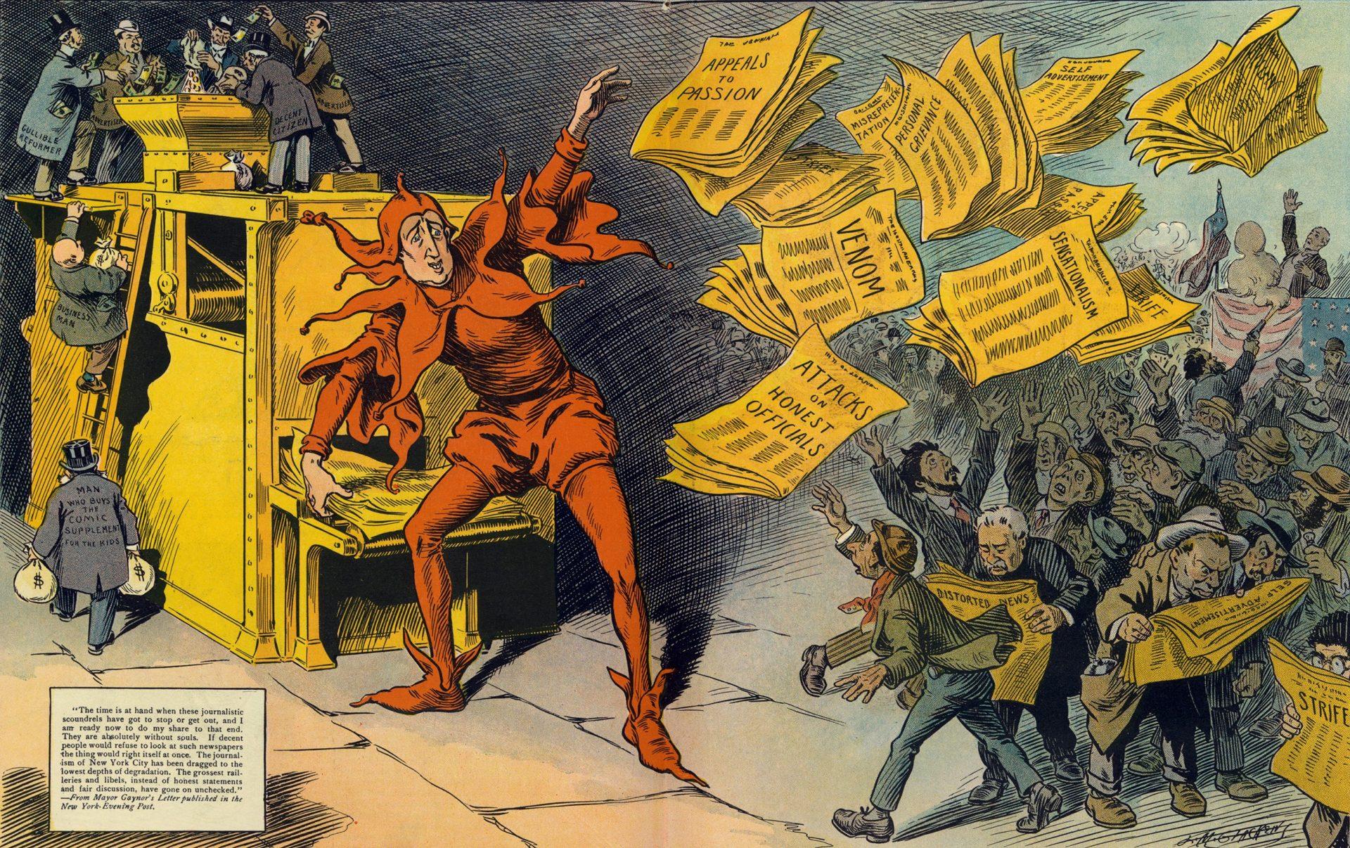 """O privire de ansamblu asupra """"jurnalismului galben"""". De la întrecerea a două publicații americane la """"știrile de la ora cinci"""""""