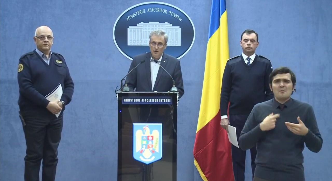 Audiențe: Conferința de duminică seara, de la sediul MAI, urmărită de 7 milioane de români