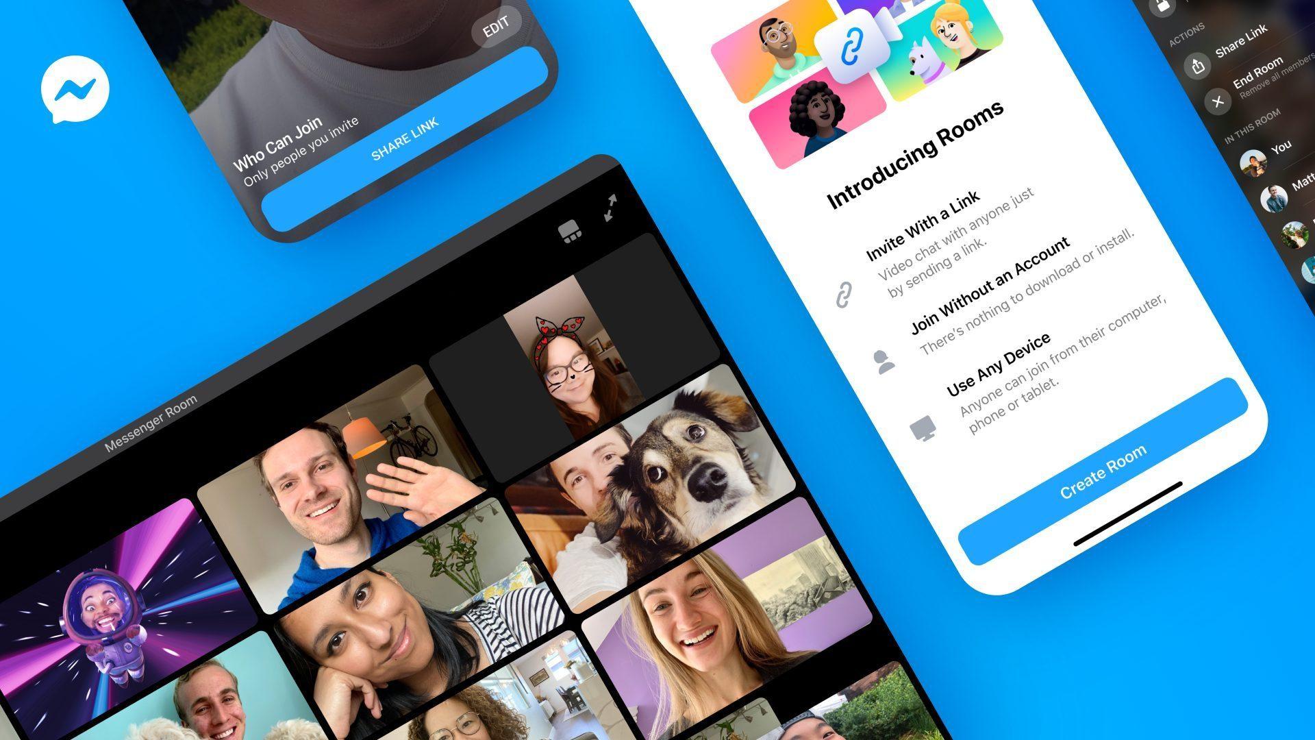 Facebook, în concurență cu Zoom și Skype, după ce a lansat Messenger Rooms