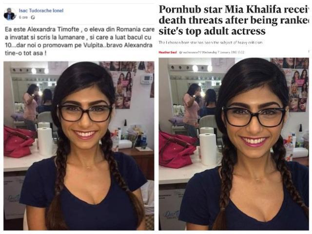 """Un consilier local a distribuit o postare în care o actriță de filme pentru adulți era prezentată ca fiind o """"elevă de 10 la bac"""""""