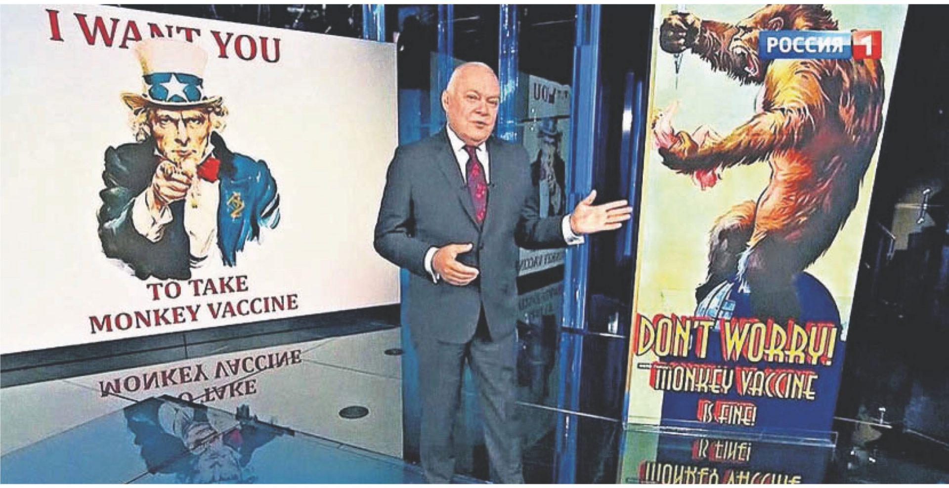 Rusia susține că vaccinul britanic anti-COVID îi va transforma pe oameni în maimuțe