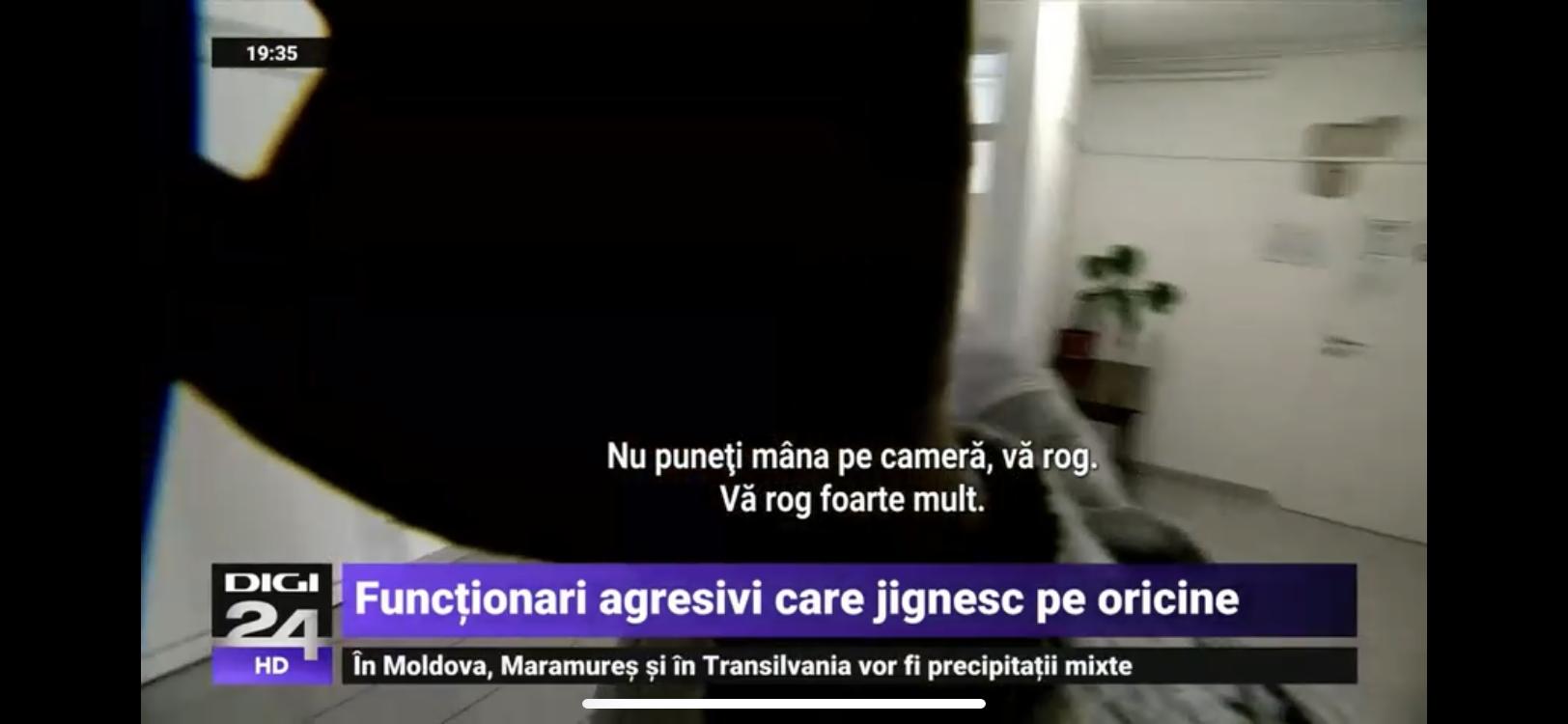 """Jurnaliști Digi24, agresați de un funcționar public: """"Ați intrat ca un păduche"""""""
