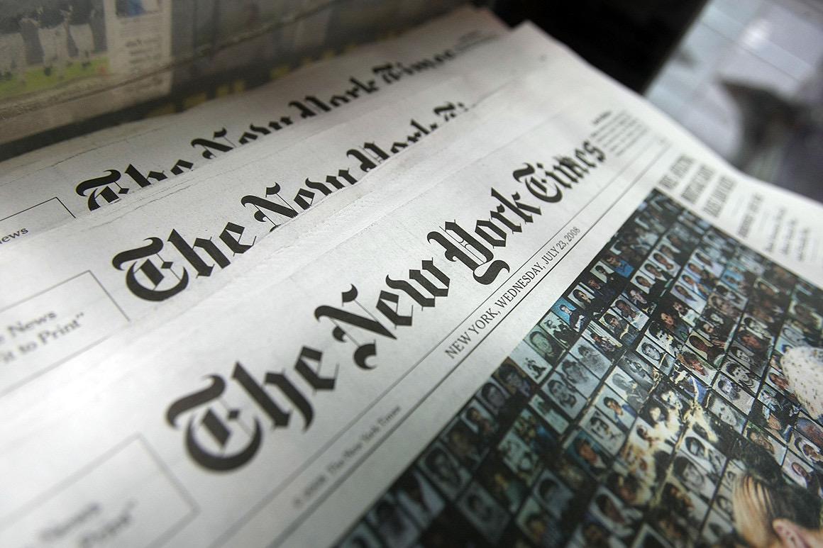 New York Times a transformat una dintre columnele sale într-un NFT