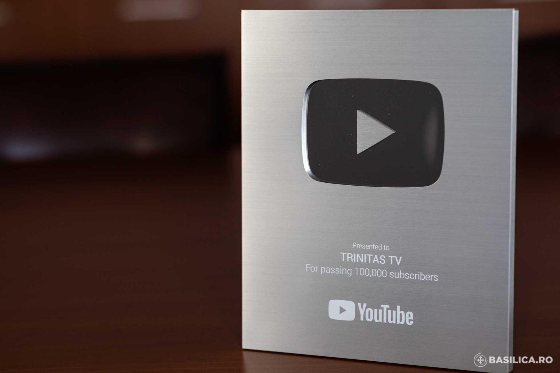 Televiziunea Patriarhiei Române, premiată de YouTube cu butonul de argint