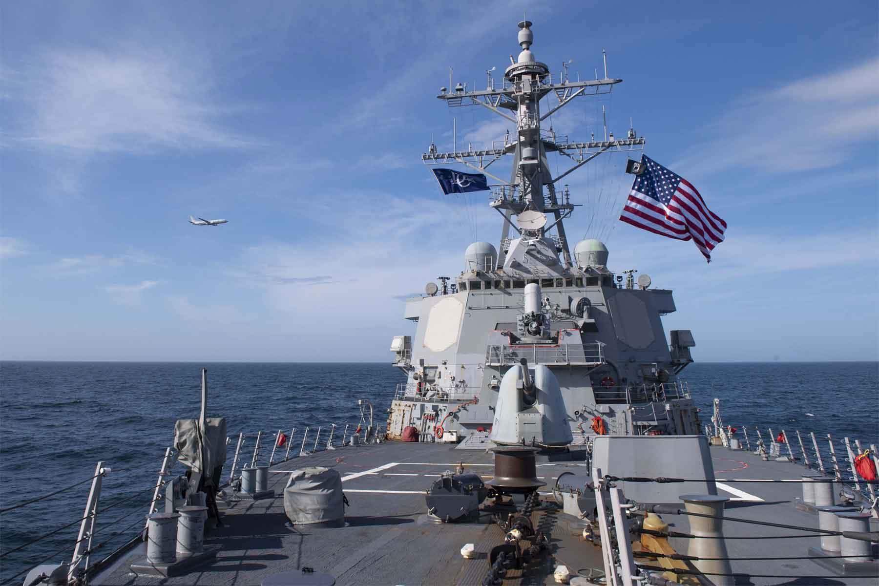 Ce a scris propaganda rusă despre navele americane care vor ajunge în Marea Neagră