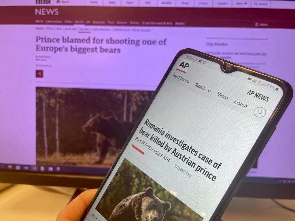 Cazul uciderii ursului Arthur, discutat în presa internațională. Prințul este blamat
