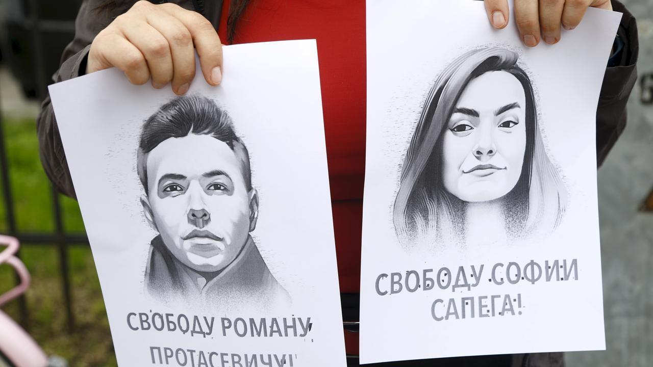 Filmare cu iubita jurnalistului Protasevici, aflată în detenție. Aceasta spune că a contribuit la protestele din Belarus