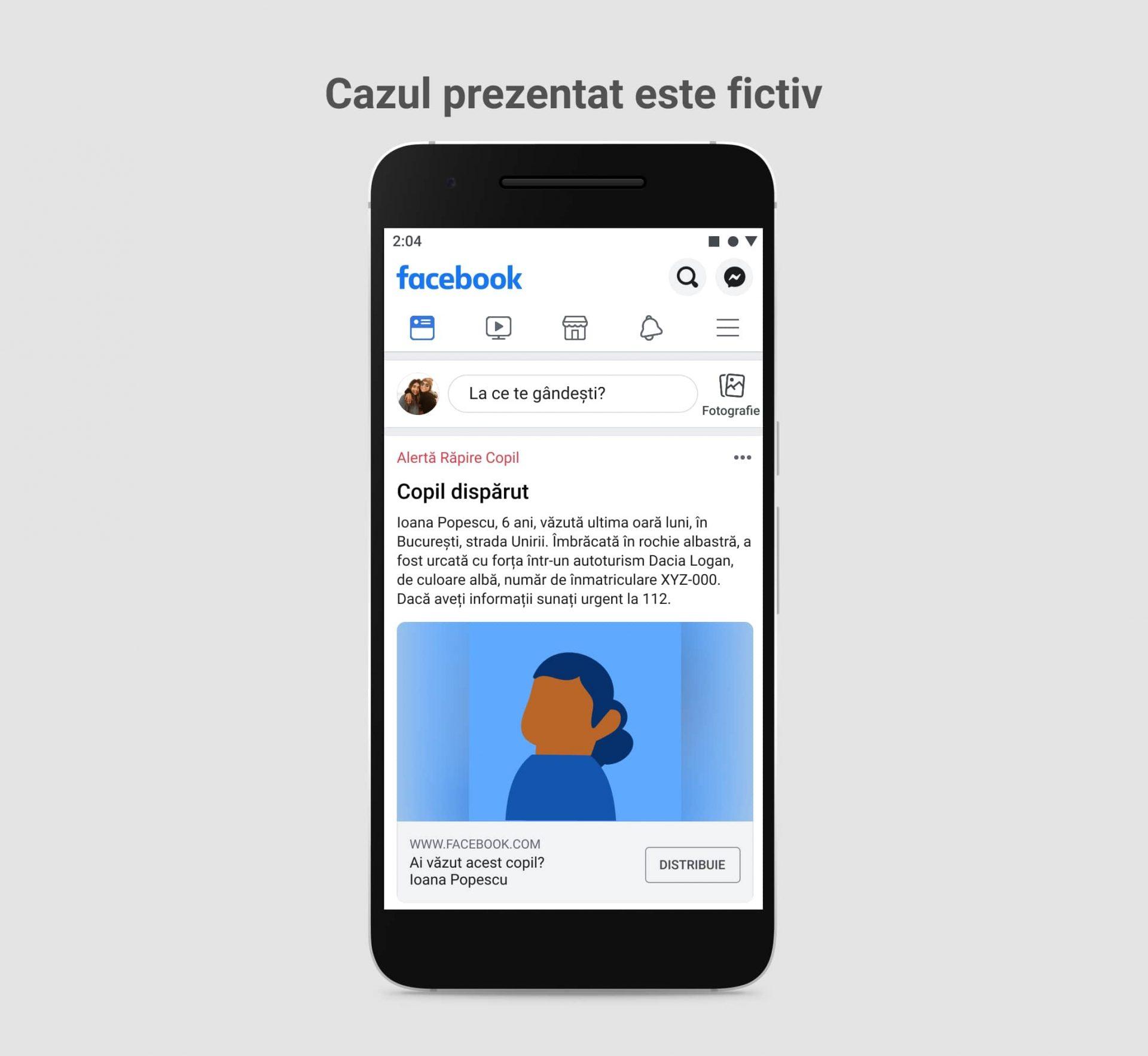 Facebook lansează un sistem de alertă pentru localizarea copiilor dispăruți din România